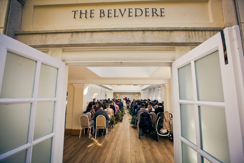 Doors wide open at the Belvedere Room